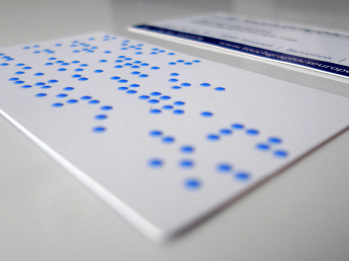 Braille signs business card 2 braille embossing colourmoves